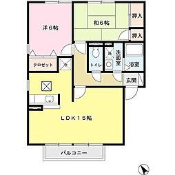 兵庫県姫路市田寺3丁目の賃貸アパートの間取り