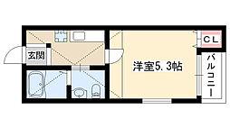 ピノ・ノワール新守山[105号室]の間取り