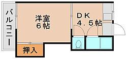 都喜荘[1階]の間取り