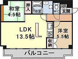 メゾンエイコー瀬田[305号室号室]の間取り
