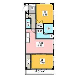 ソレーユFUJI[1階]の間取り