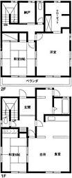 [一戸建] 埼玉県越谷市大沢3丁目 の賃貸【/】の間取り