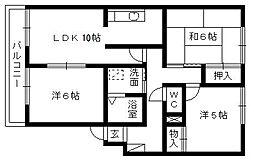 静岡県浜松市東区有玉台2丁目の賃貸アパートの間取り