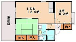 セジュール惣利[1階]の間取り