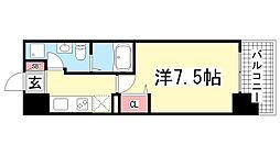 アドバンス神戸プラージュ[602号室]の間取り