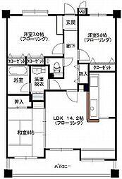 チェリーマンション高宮[3号室]の間取り