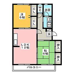 黒坂壱番館[2階]の間取り