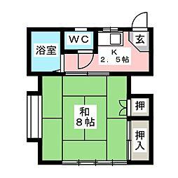 尾花コーポ[2階]の間取り