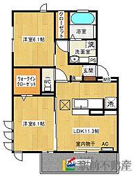 ファミールSHOW II A棟[3階]の間取り