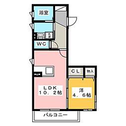 マ・メゾン・リーベン本山[2階]の間取り