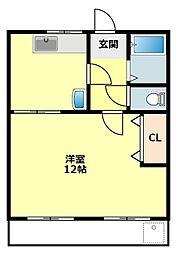 愛知県岡崎市河原町の賃貸マンションの間取り