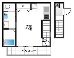東京都新宿区西落合1丁目の賃貸アパートの間取り