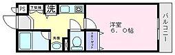 ルミエールマゴジ3[1階]の間取り
