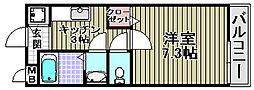 ラユーミン松之浜[222号室]の間取り