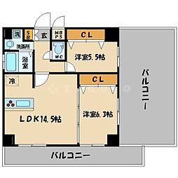 フォレストSAKURANOMIYA[8階]の間取り