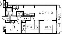 ホワイトマンション[703号室号室]の間取り