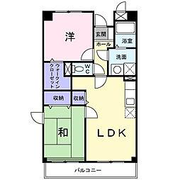 東京都町田市常盤町の賃貸マンションの間取り
