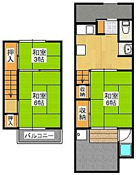 [一戸建] 京都府京都市伏見区下板橋町 の賃貸【/】の間取り