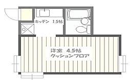東京都豊島区千早2丁目の賃貸アパートの間取り