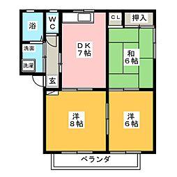 メゾン元町 I[2階]の間取り
