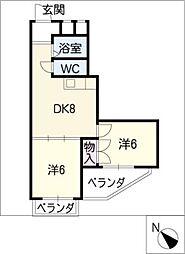 グレイス植田PART2[2階]の間取り