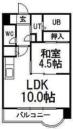 北海道札幌市中央区北四条西15丁目の賃貸マンションの間取り