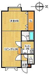 ラピュタハウスB[B25号室]の間取り