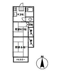 ことぶき荘[2F11号室]の間取り