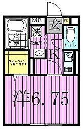 Park Studio[1階]の間取り