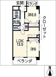 ブランコート戸田[3階]の間取り