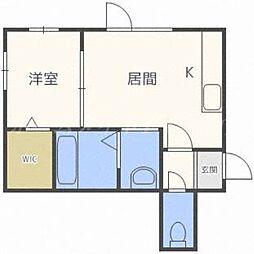 北海道札幌市東区北二十五条東16の賃貸アパートの間取り