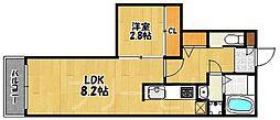 バーンメアオ チットロム[2階]の間取り
