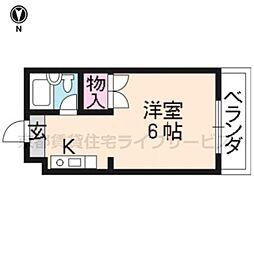 エクセラード京都[203号室]の間取り