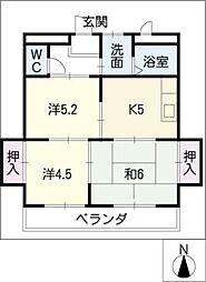 コーポ・エム5[3階]の間取り