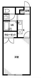 神奈川県横浜市磯子区磯子4丁目の賃貸アパートの間取り