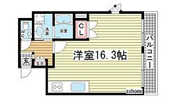 兵庫県神戸市灘区八幡町1丁目の賃貸マンションの間取り
