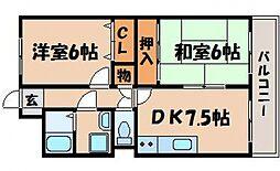 ドエル平岡[2階]の間取り