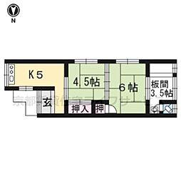 第二祥豊荘[201号室]の間取り