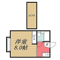 千葉県市原市ちはら台西5丁目の賃貸アパートの間取り