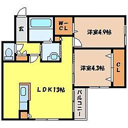 北海道札幌市北区北十四条西1丁目の賃貸マンションの間取り