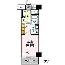D-Room安島[802号室]の間取り
