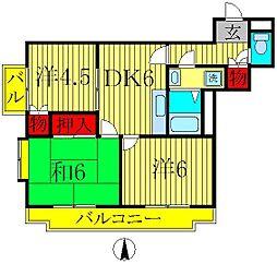メゾン・ラポームI[2階]の間取り