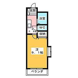 ホリホックイン八幡[8階]の間取り