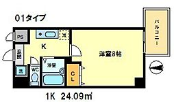 シエークル21[3階]の間取り