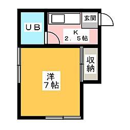 WHITE HOME[1階]の間取り