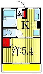 クレール幕張本郷[2階]の間取り