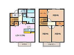 [テラスハウス] 三重県鈴鹿市北江島町 の賃貸【/】の間取り
