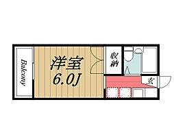 京成本線 京成成田駅 バス28分 根木名台下車 徒歩6分の賃貸アパート 1階1Kの間取り