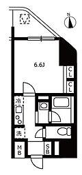 JR山手線 浜松町駅 徒歩3分の賃貸マンション 12階1Kの間取り