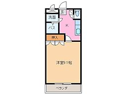 三重県松阪市嬉野中川新町2の賃貸アパートの間取り